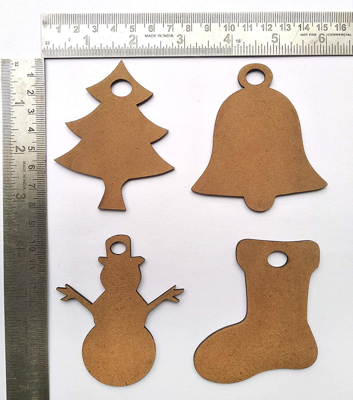 eSplanade MDF Cut Christmas Pack Adornos Adornos de Navidad ...