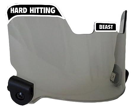 334eb5f2230f EliteTek Football Eye-Shield Visor (Smoke Tinted) - Hard Hitting No  Quitting (