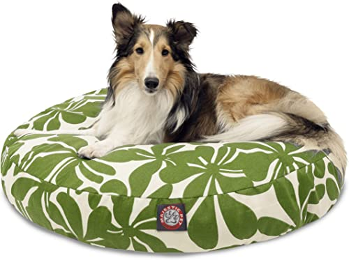 Sage Plantation Medium Round Indoor Outdoor Pet Dog Bed With Removable Washable Cover By Majestic Pet Products