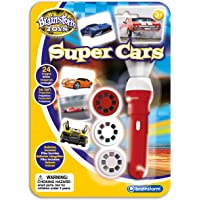 brainstorm E2047 Torch & Projector, Super Cars Red/White