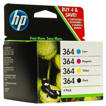 HP 364XL - Cartucho de tinta para impresoras (Negro, Cian, Magenta, Amarillo, 850 páginas, 5-80%, -40-70 °C, 5-50 °C, 150g)