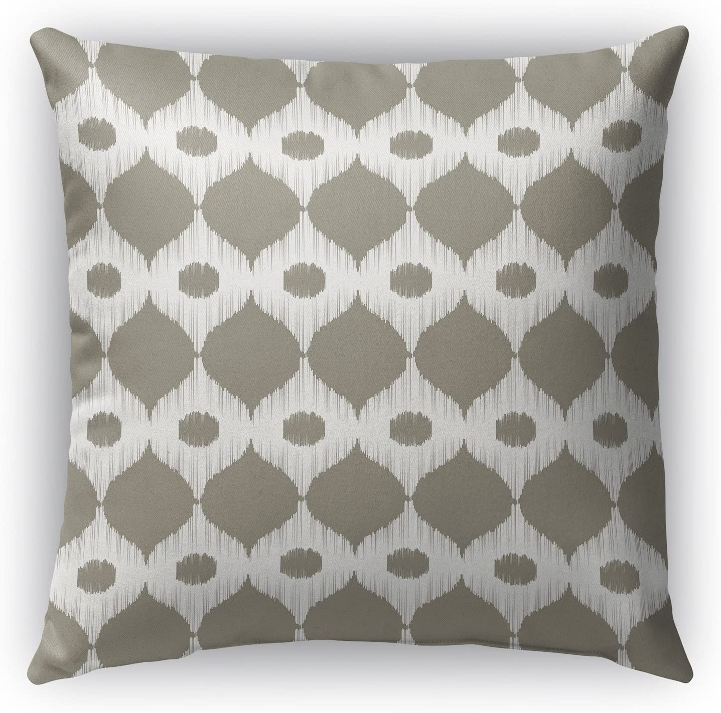 Brown//Ivory KAVKA Designs Forrest Rain Indoor-Outdoor Pillow, Size: 18X18X6 - MGTAVC2009OP18 - ENCOMPASS Collection