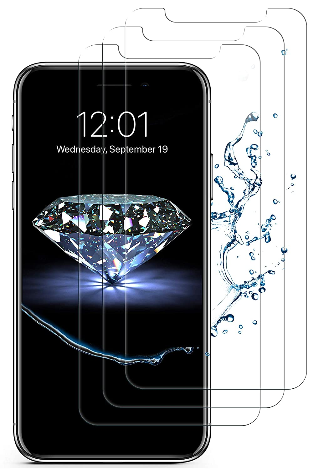 finest selection 40ac6 b0795 iPhone XS Max Screen Protector(3 Pack, Clear) iPhone XS Max Tempered Glass  Screen Protector. 9H Hardness Supporting 3D Touch Best Glass for Your Best  ...