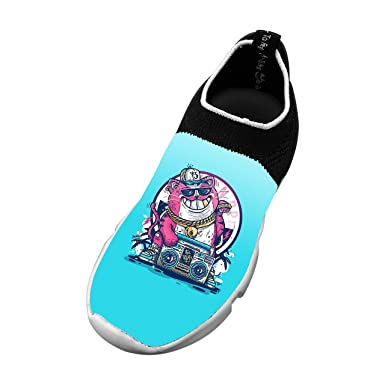 a09be0832924ce Amazon.com  New Funny Flywire Knitting Casual Shoes 3D Personalised Custom  With Cat Party For Unisex Child  Clothing