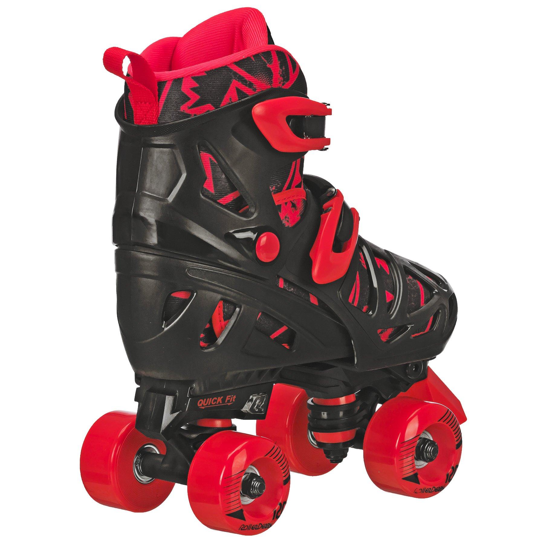 Roller Derby Trac Star Boy's Adjustable Roller Skate, Grey/Black/Red, Large (3-6) by Roller Derby (Image #7)