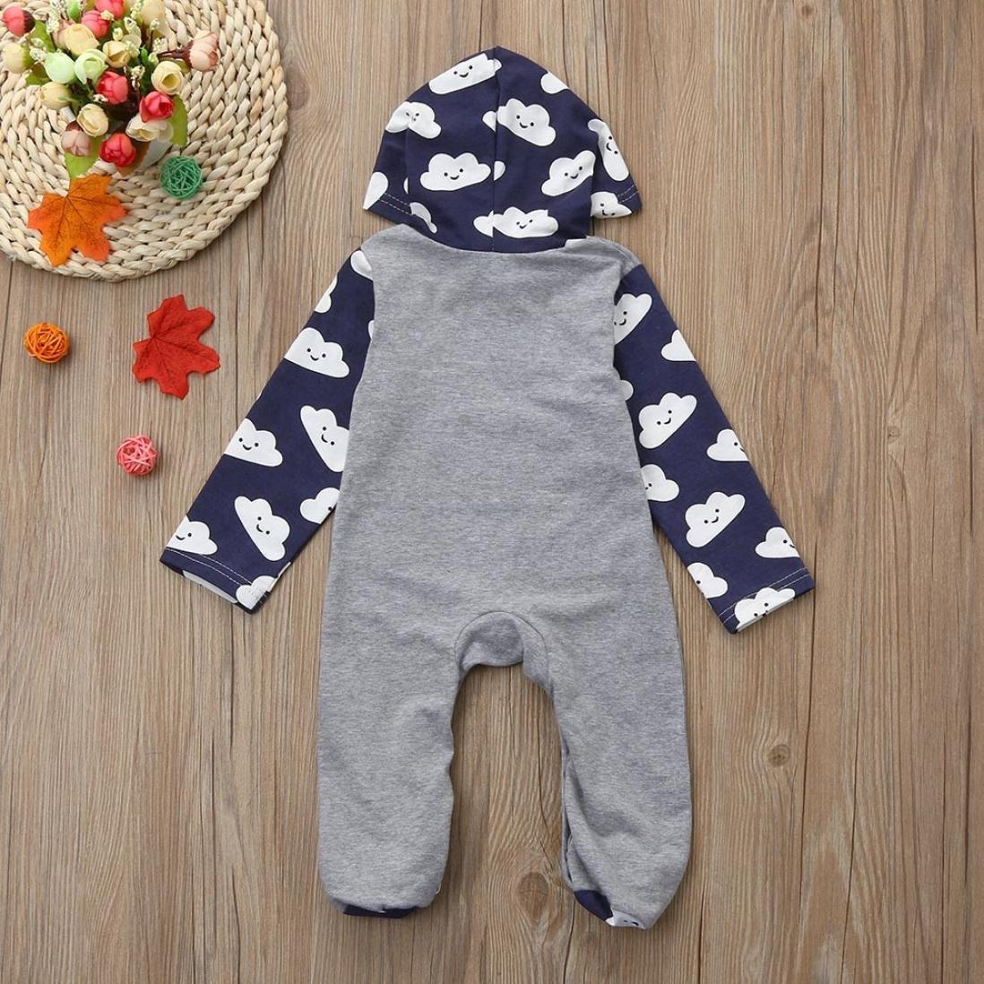 595deef4b Amazon.com  iumei Infant Onesie Boy Girl Cloud Print Long Sleeve ...