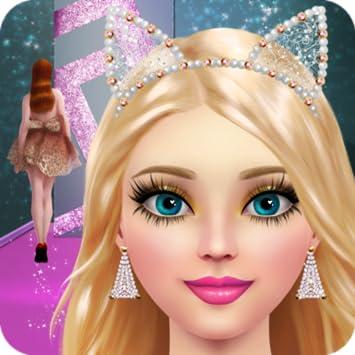 amazon com supermodel makeover spa makeup and dress up game for