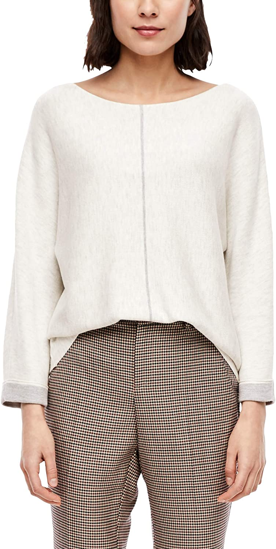 s.Oliver RED Label Damen Pullover mit Kontrast-Details