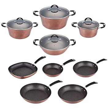 San Ignacio Batería Cocina SIP Sartenes Ø20/24/28/30 y Grill 28