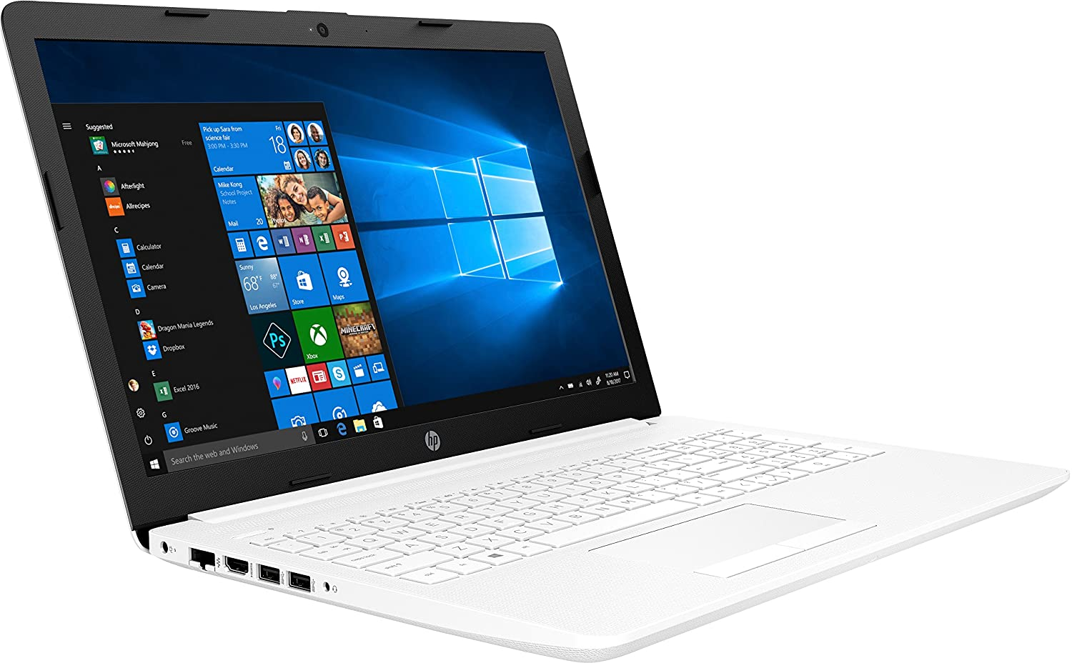 PORTÁTIL HP 15-DA0023NS - I3-7020U 2.3GHZ - 8GB - 500GB - 15.6/39.6CM - DVD RW - HDMI - WiFi BGN - BT - W10 - Blanco Nieve: Hp: Amazon.es: Informática