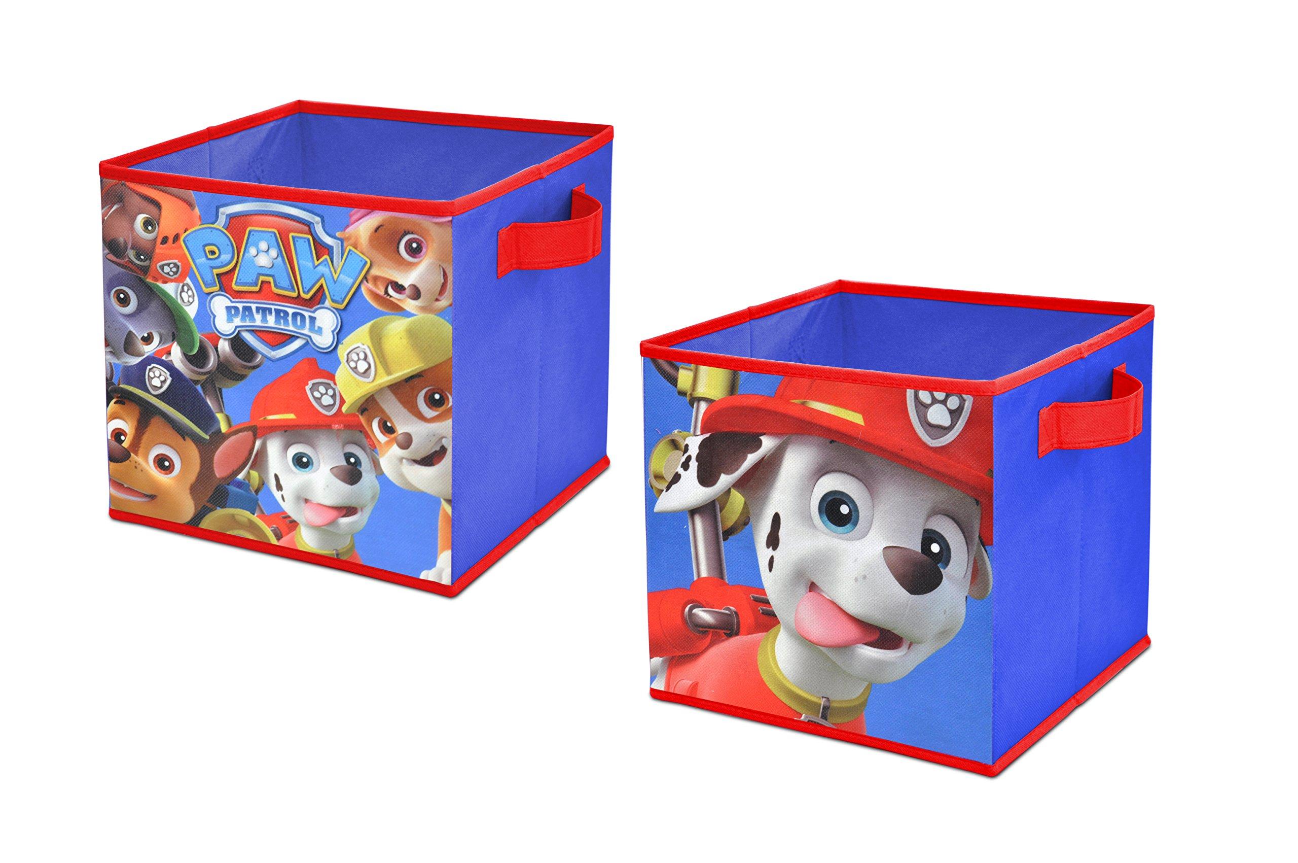 Nickelodeon Paw Patrol Storage Cubes (2 Pack), 10'' Toy
