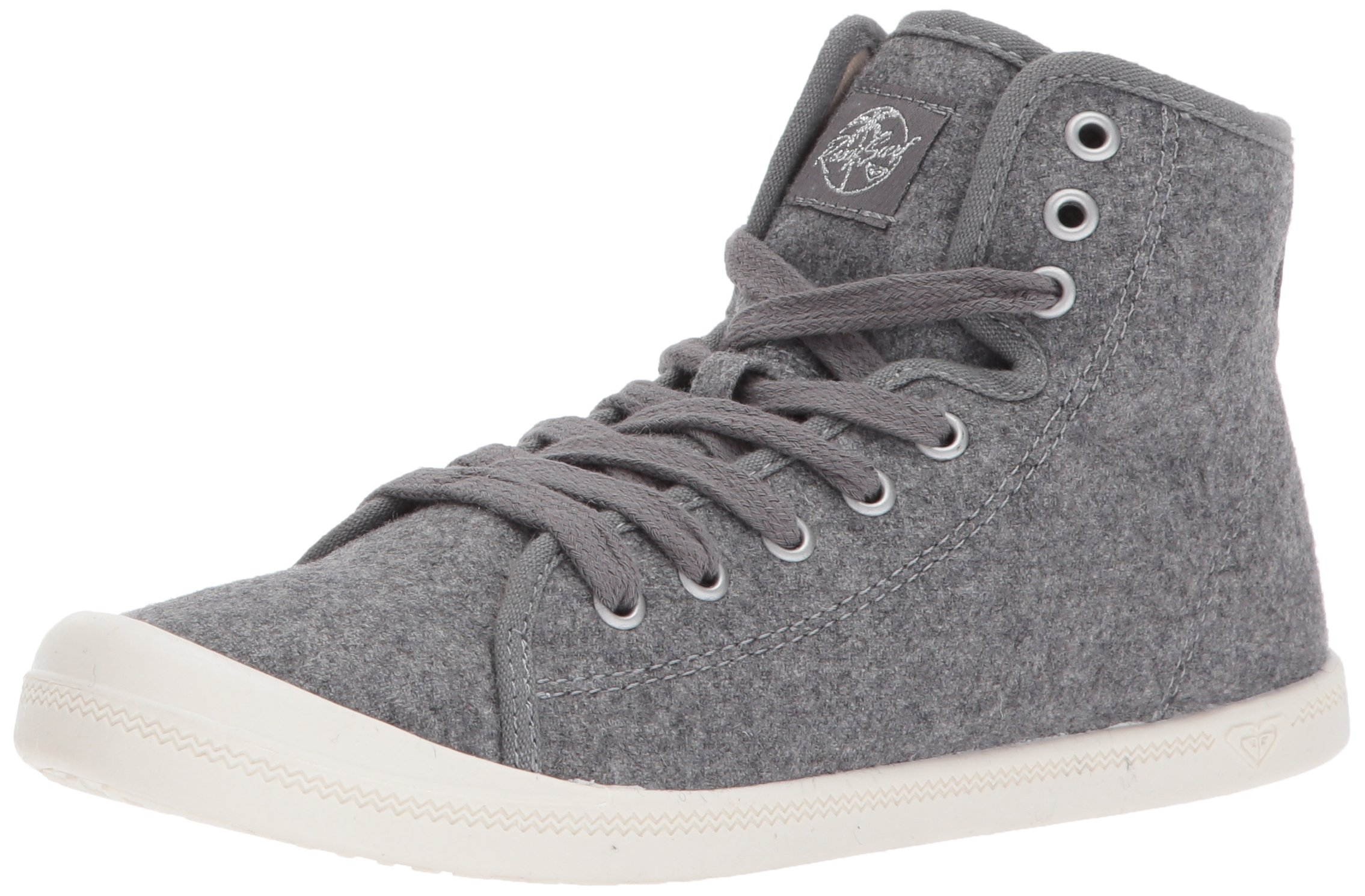 Roxy Women's Rizzo Ii Mid Top Shoe Fashion Sneaker, Grey Heather, 8 M US