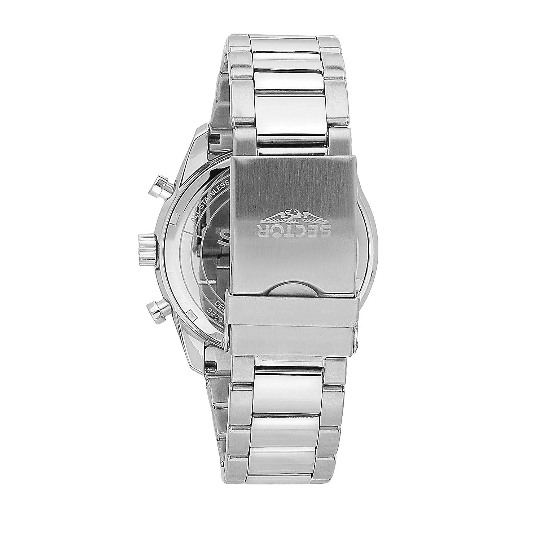 a1715184f2d SECTOR NO LIMITS Herren Chronograph Solar Uhr mit Edelstahl Armband  R3273613003  Amazon.de  Uhren