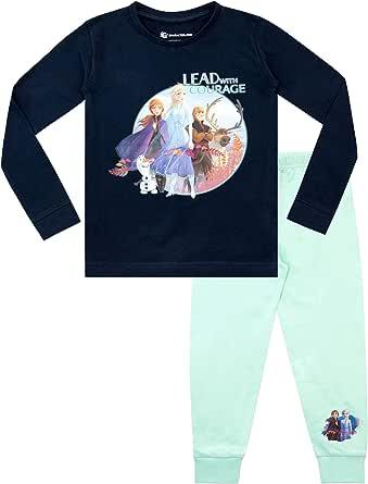 Disney Pijamas de Manga Larga para niñas El Reino del Hielo Ajuste Ceñido Frozen