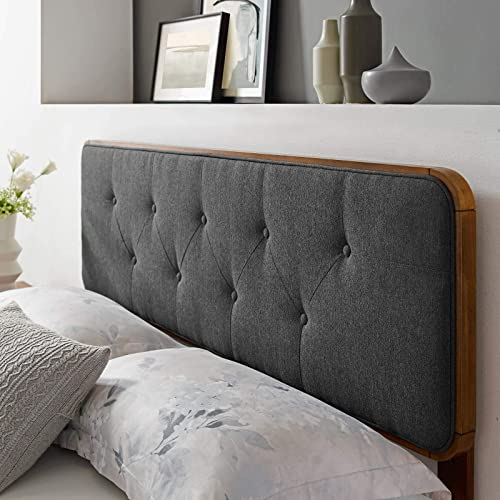 Modway Collins Tufted Fabric and Wood King Headboard