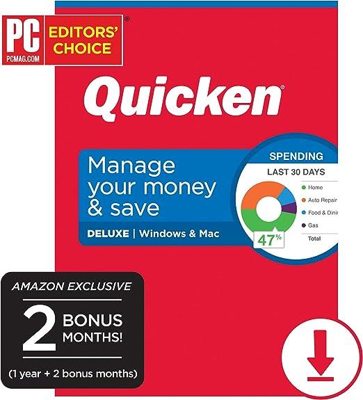 Quicken Deluxe 2019 digital delivery