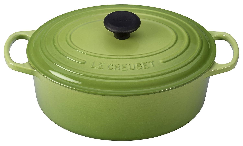 Le Creuset of America Enameled Cast Iron Signature Oval Dutch Oven, 8 quart, Palm