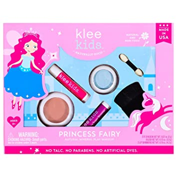 Princess Fairy - Klee Kids Natural Mineral Makeup 4 Piece Kit with Pressed  Powder Compacts  Non-Toxic