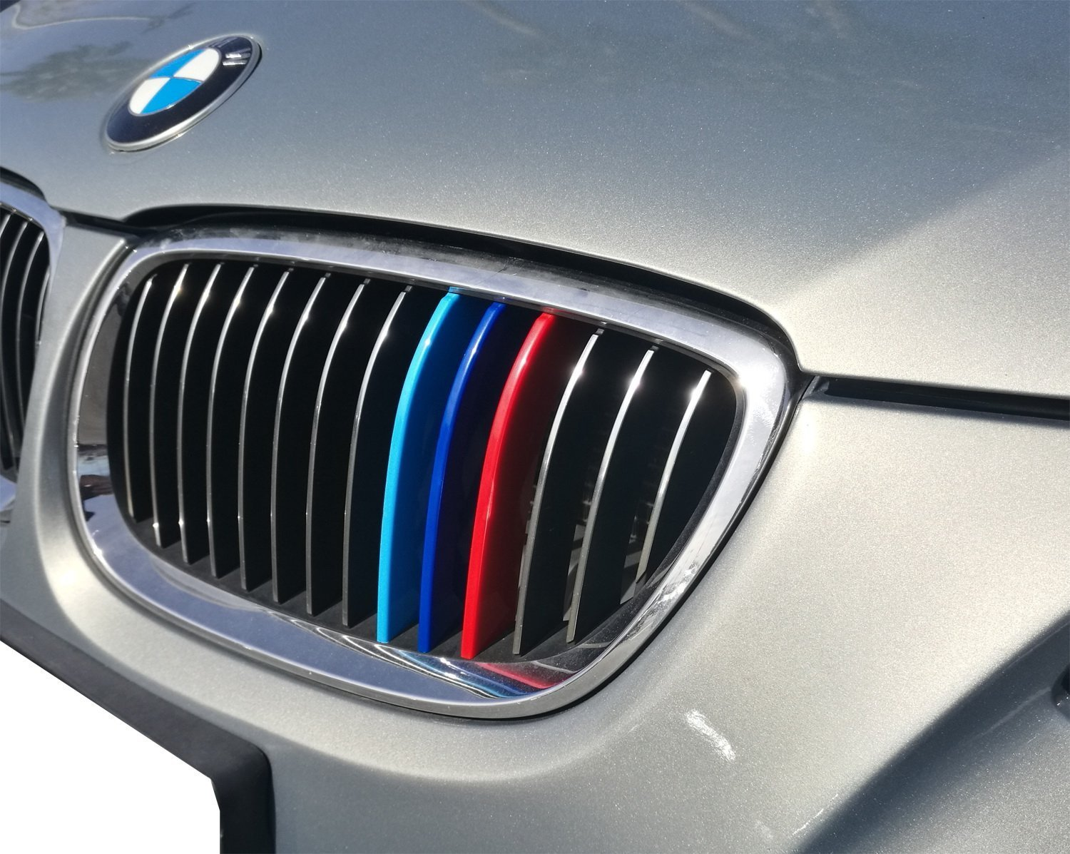 lanyun M Color Grille Insert Trims Cover for BMW F30 3 Series and F32 4 Series Grill Stripes 12-up F30 3 Series 11-Beam Grille Insert