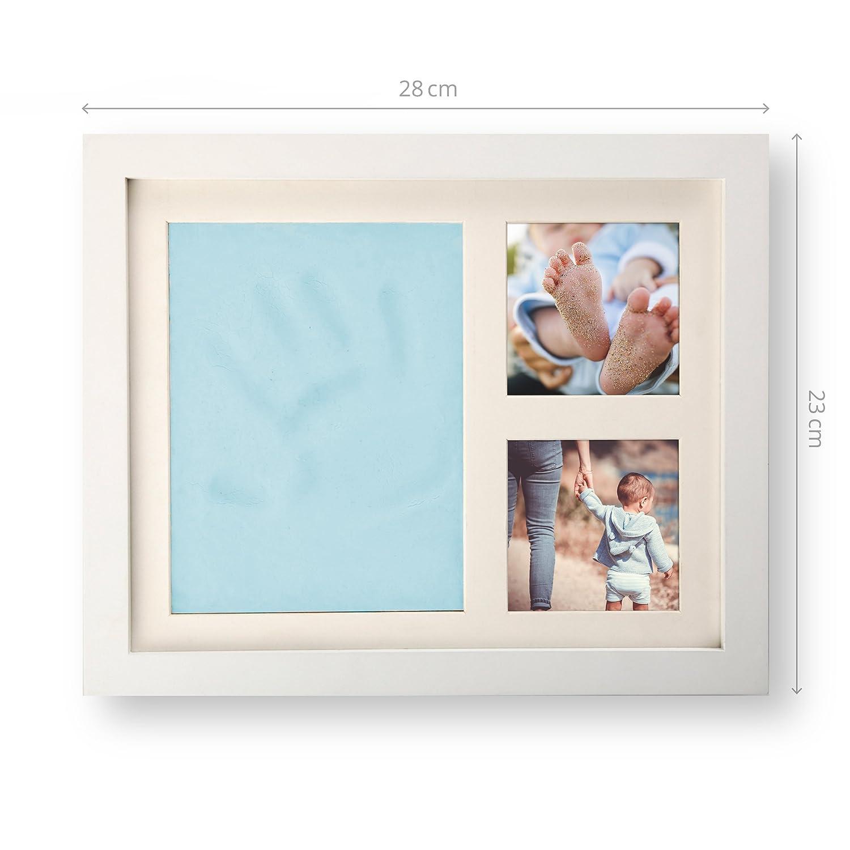 smileBaby Baby Bilderrahmen Set Hand- und Fußabdruck inkl ...