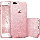 "iPhone 7 Plus Case, ESR Luxury Glitter Sparkle Bling Designer Case [Slim Fit, Hard Back Cover] Shining Fashion Style for Apple iPhone 7 Plus 5.5"" (Rose Gold)"