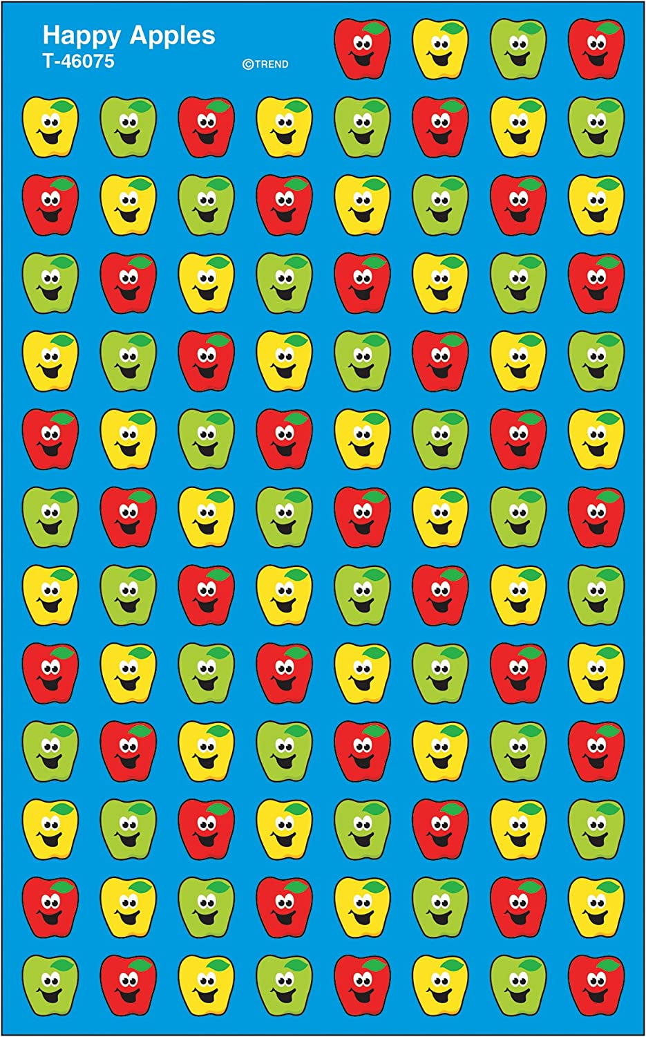 Trend Enterprises Inc. Happy Apples superShapes Stickers, 800 ct