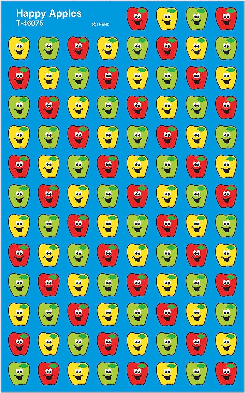 Trend Enterprises Inc. Happy Apples superShapes Stickers, 800 ct