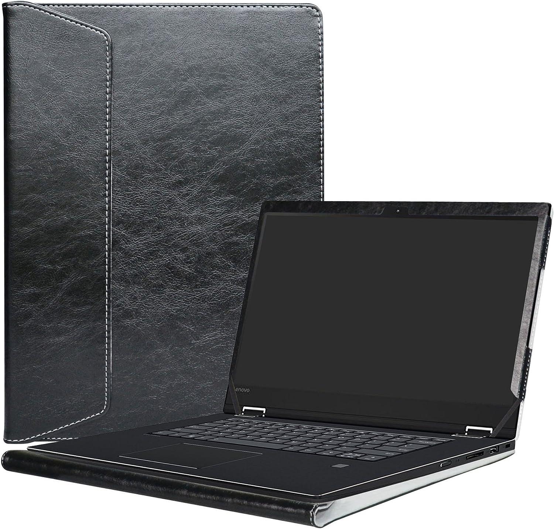 """Alapmk Protective Case Cover for 15.6"""" Lenovo Flex 5 15 1570/Flex 15 Flex-15IWL Flex-15IIL/ThinkPad T15 P15s T590 P53s & ASUS ZenBook Pro UX550VE Laptop(Note:Not fit Flex 5 14/Flex 6),Black"""