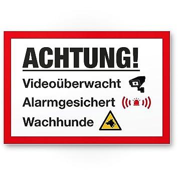 Video Vigilancia/alarma gesic Hert/Encendido Perros - Rótulo ...