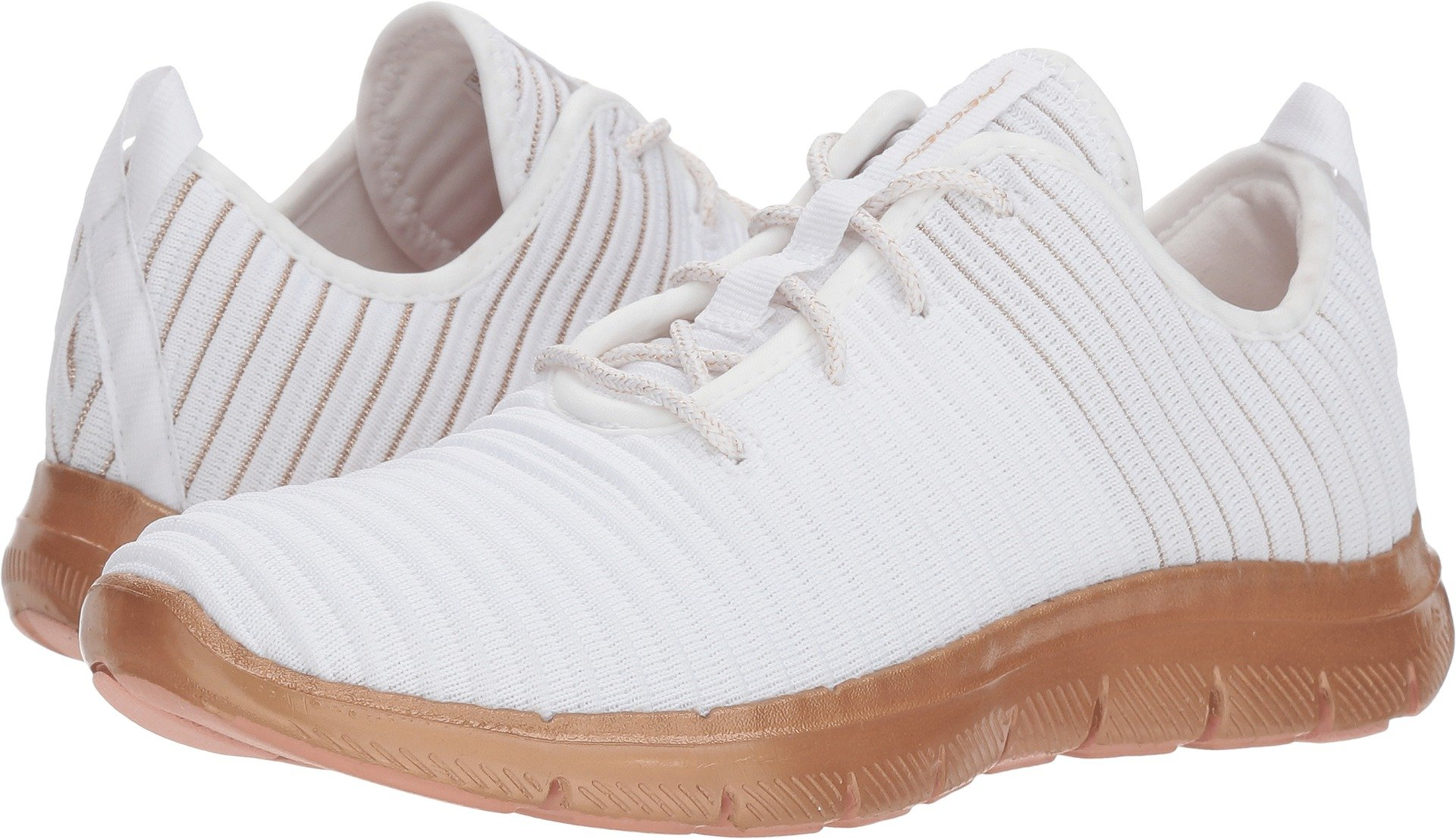 Skechers Women's Flex Appeal 2.0 - Chroma Color White/Gold 6.5 B US