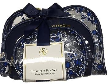 668eaff61f Amazon.com   Adrienne Vittadini Studio 3 Piece Cosmetic Bag Set   Beauty