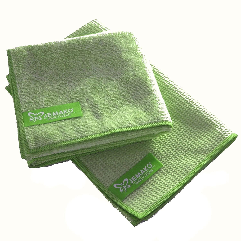 jemako Set Verde–Panno professionale (40x 45cm) + Panno asciutto (45x 60cm)