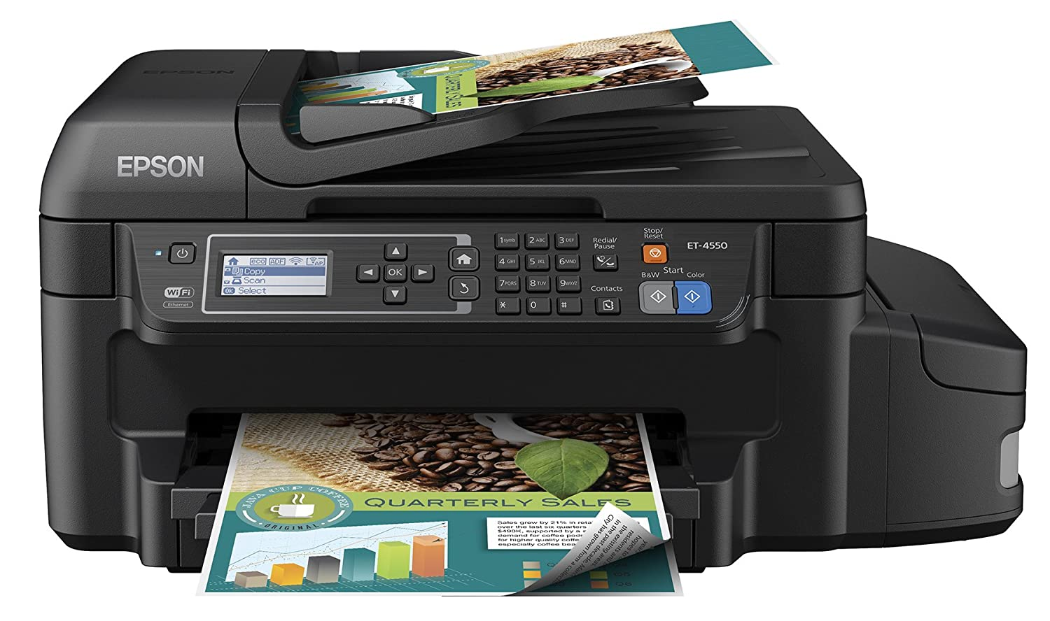 Color art printing anchorage - Amazon Com Epson Workforce Et 4550 Ecotank Wireless Color All In One Supertank Printer With Scanner Copier Fax Ethernet Wi Fi Wi Fi Direct
