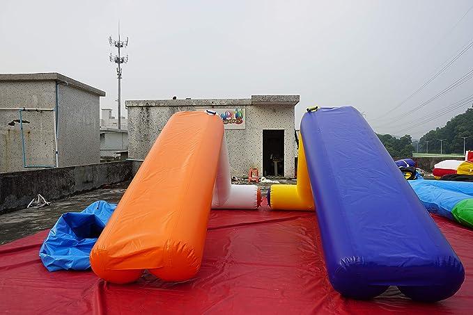 Juegos hinchables acuáticos, Cama elástica, balancín, Pulpo Hinchable, Flip-IP volteador Cuadrado, tobogan de Piscina, ovni, Pasarela Hinchable (Tobogan Hinchable 4 x 2 m): Amazon.es: Juguetes y juegos