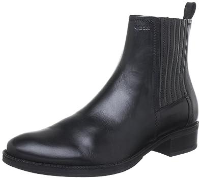 Geox Leder Stiefelette MENDI Leder schwarz Klassische