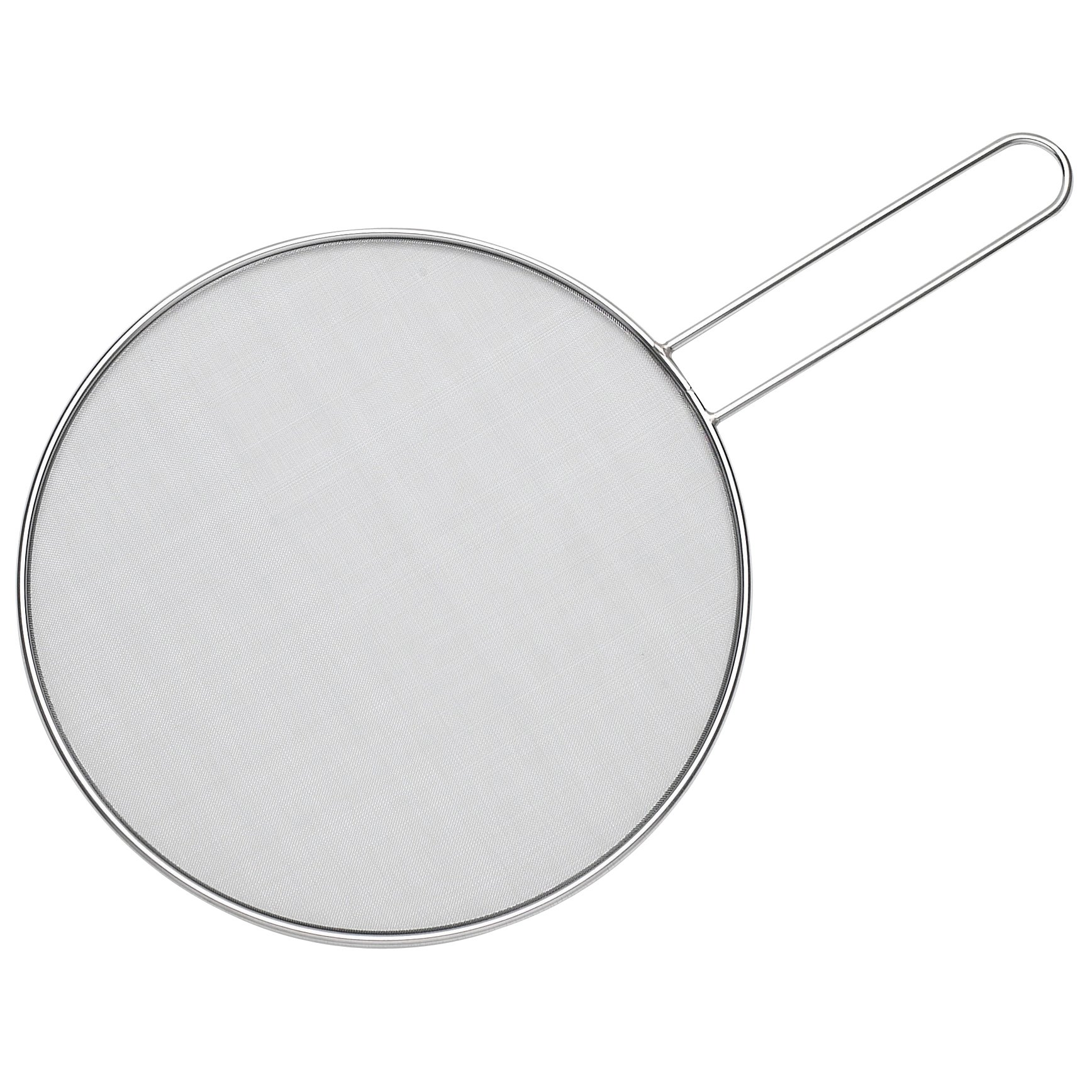 HIC Splatter Screen Guard Strainer, 18/8 Stainless Steel, Fine Mesh, 11-Inches
