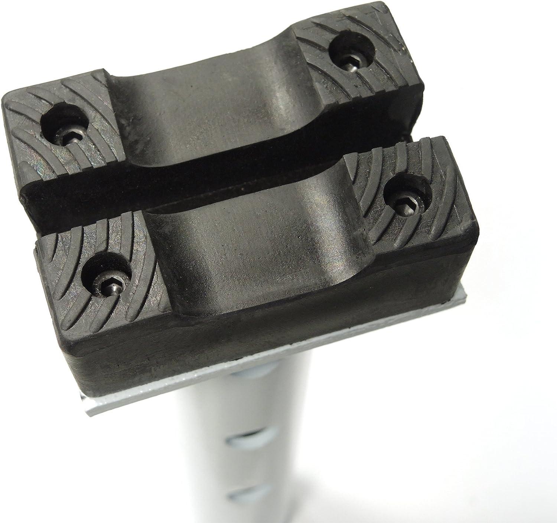 Capacidad 6 Toneladas CJS600 para la Reparaci/ón de Coches Caballetes de Soporte con Pasador con Cabezal de Goma Regulable MAXTOOLS