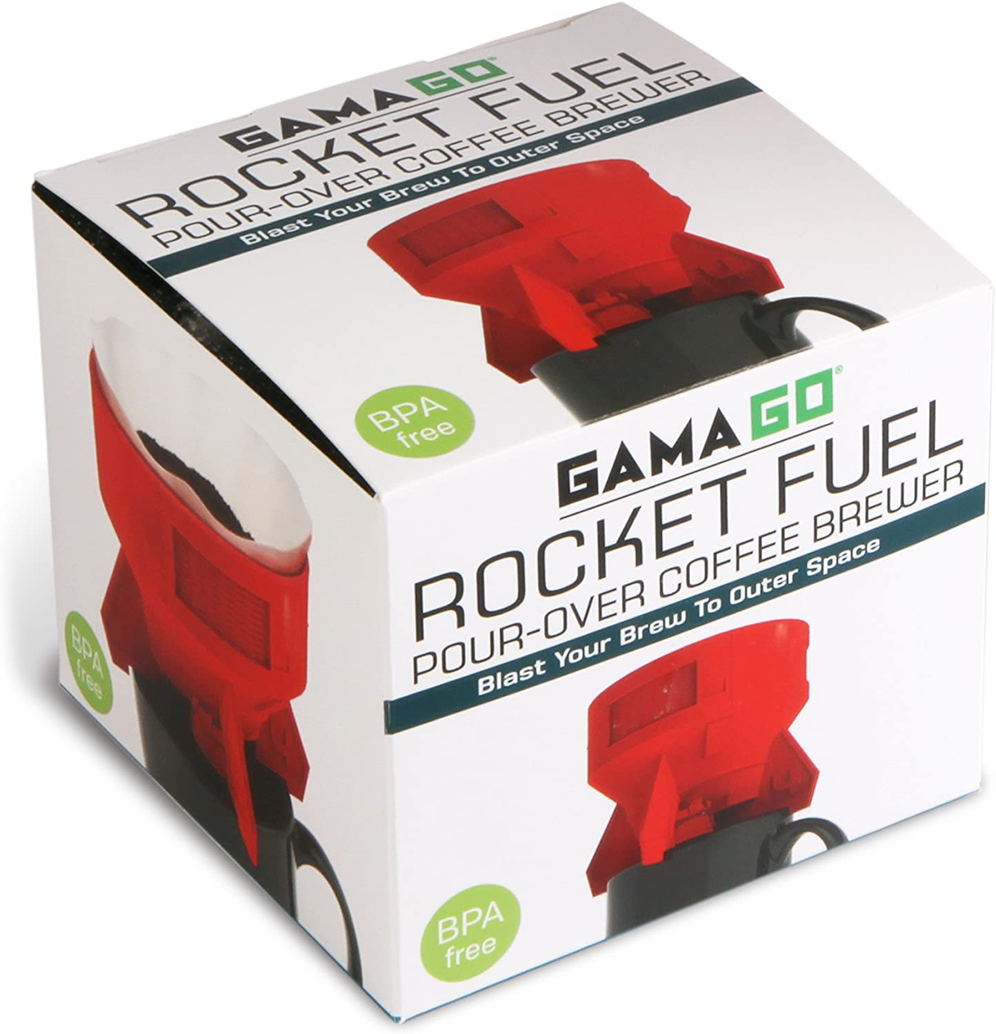 Rocket Fuel Pour Over Coffee Brewer By GAMAGO