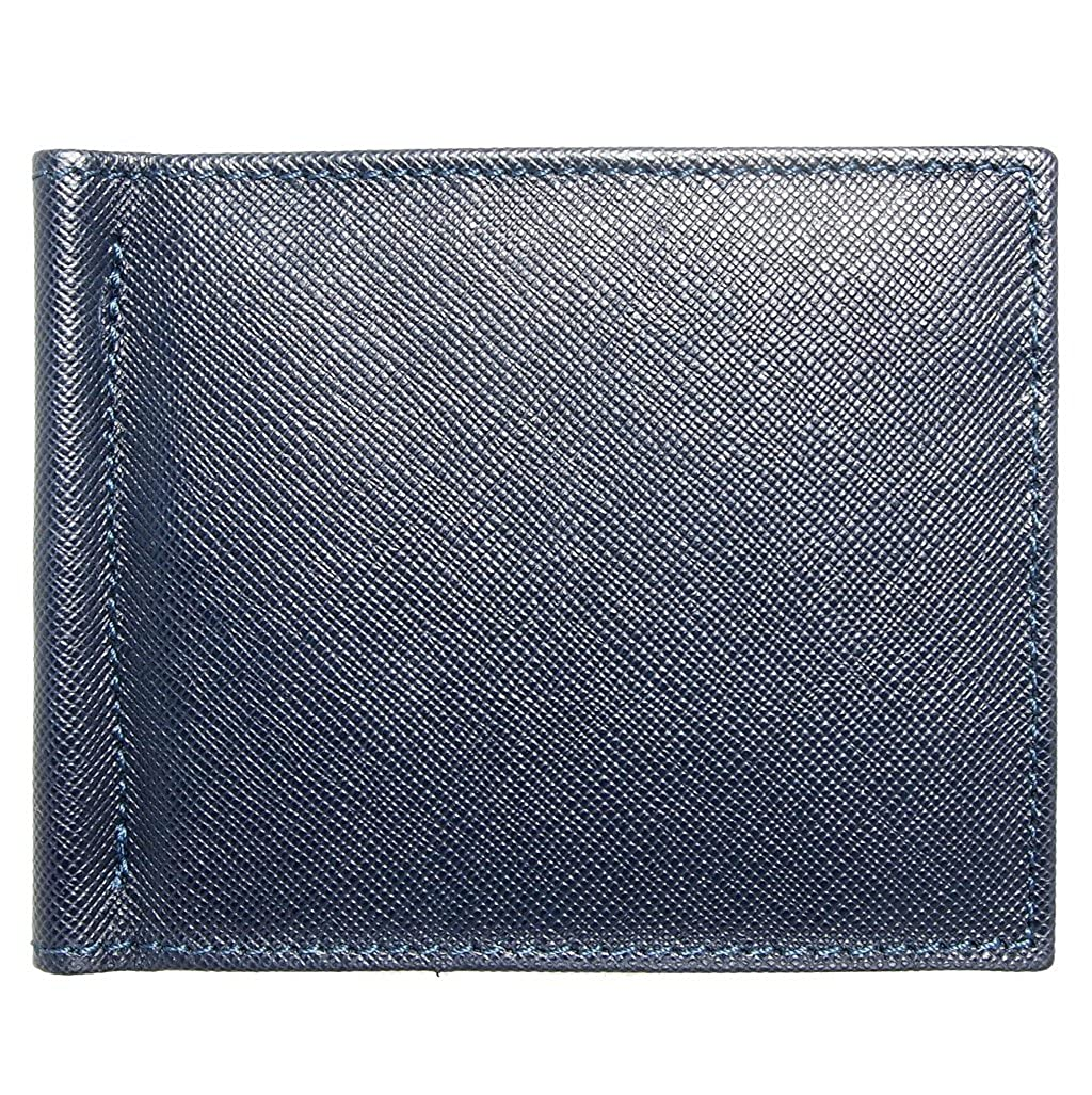 Saffiano Money Clip Blue