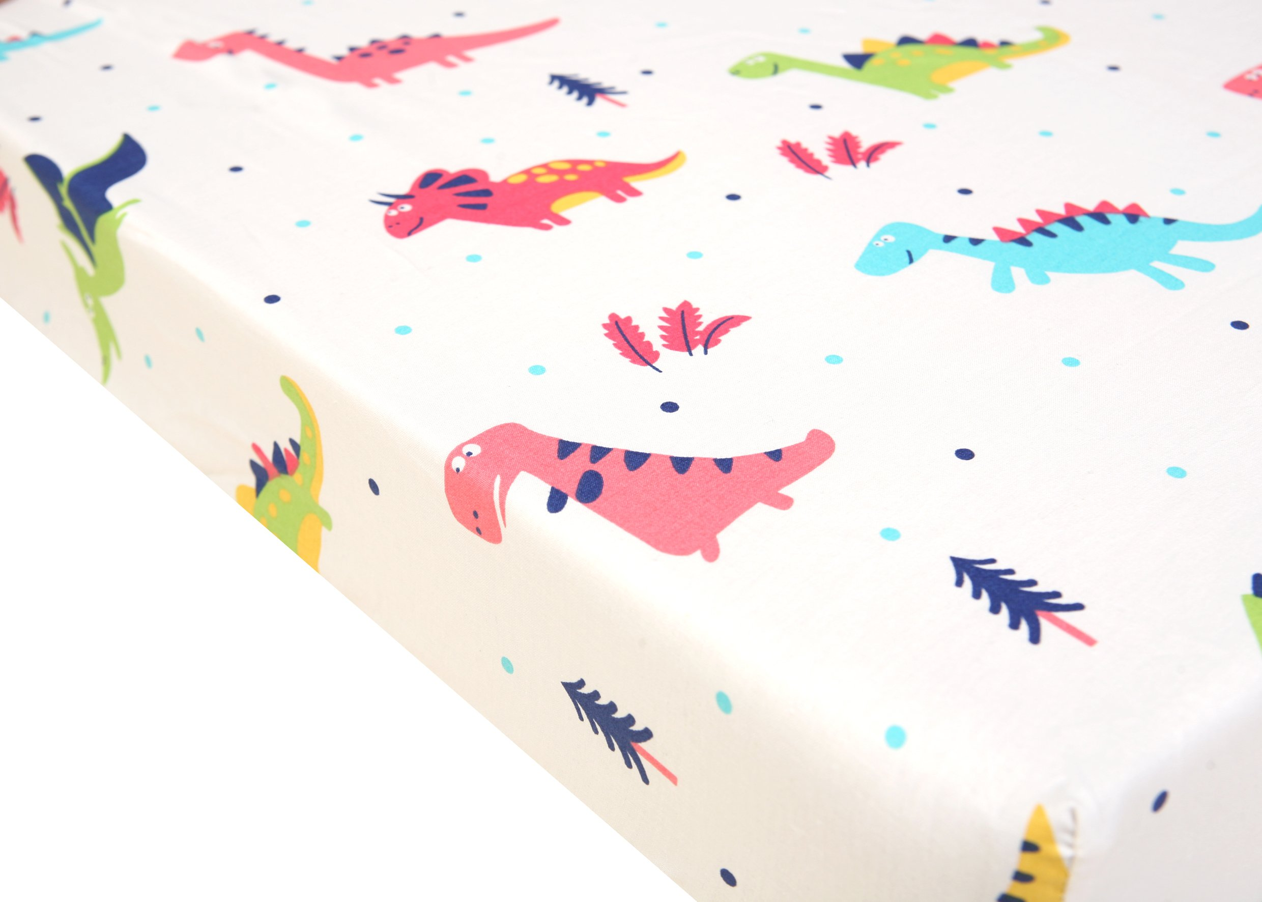 Pack N Play Playard Sheet - 2 Pack 100% Premium Cotton, Fits Perfectly Graco Pack N Play, Dream On Me Playard Mattress 3'' Or Any Standard Mini Crib Mattress, Happy Dinos and Chevron by Luxuriously Soft-NEW YORK (Image #3)