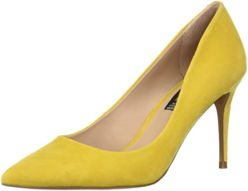 c3b612efc85 STEVEN by Steve Madden Women s Local Pump Yellow Suede 6 B(M) US  Buy  Online at Low Prices in India - Amazon.in