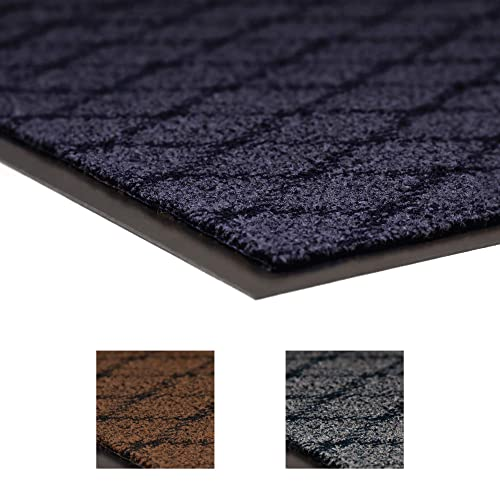 NoTrax 125 Evergreen Diamond Superior Entrance Mat with Vinyl Non-Slip Backing, 4 Width x 6 Length x 3 8 Thickness, Blue