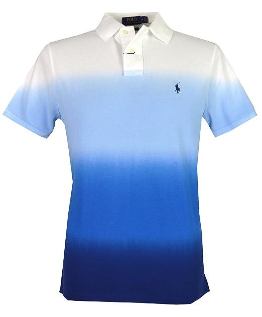 RALPH LAUREN CAMISA DE POLO T.L, Polo Flequillo, azul, Custom Slim ...