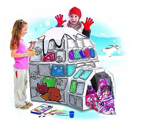 Amazon.com: My Little Igloo Cardboard Playhouse - Large Corrugated ...