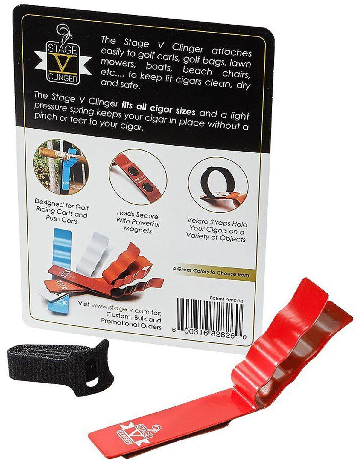 Stage V Clinger Magnetic Cigar Holder (Red)