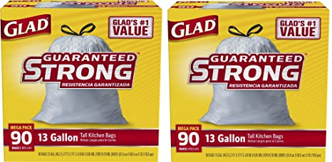 Amazon.com: Glad Tall Cocina Cordón bolsas de basura 13 ...
