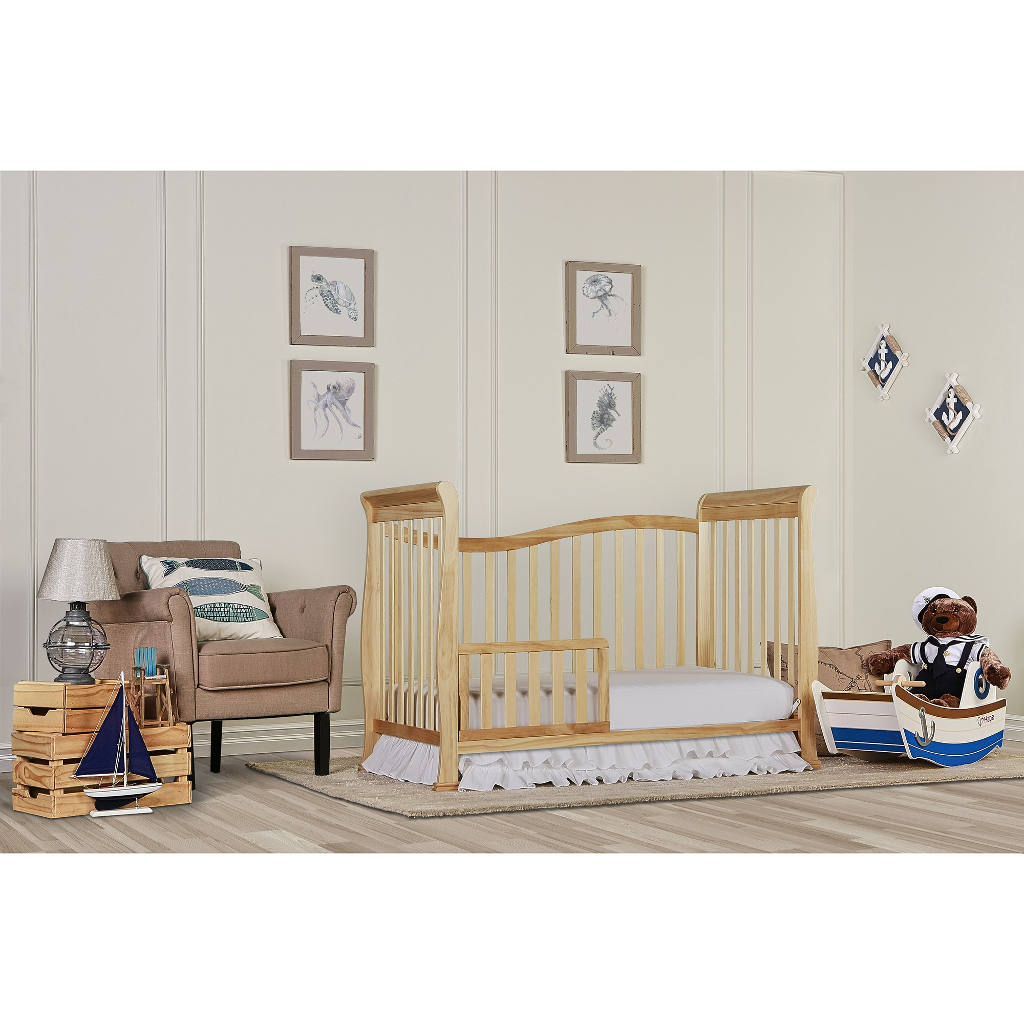 Dream On Me Violet 7 in 1 Convertible Life Style Crib, Natural by Dream On Me (Image #3)