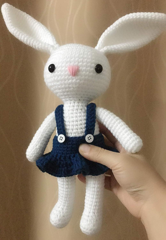 Amazon.com: HYST Pastel Rabbit Handmade Amigurumi Stuffed Toy Knit ... | 1500x1037