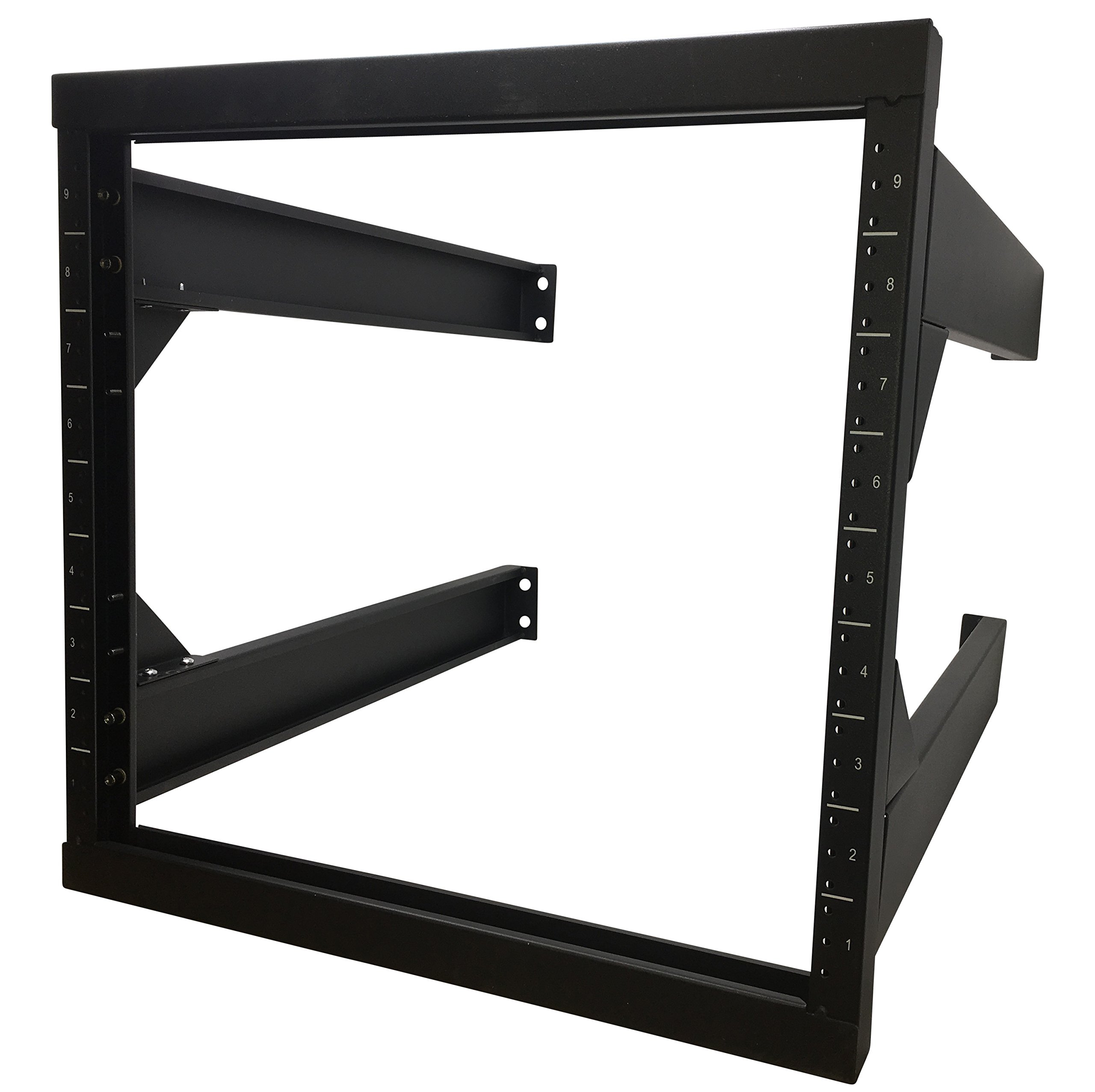 Kenuco 9U Wall Mount Open Frame Steel Network Equipment Rack New Version