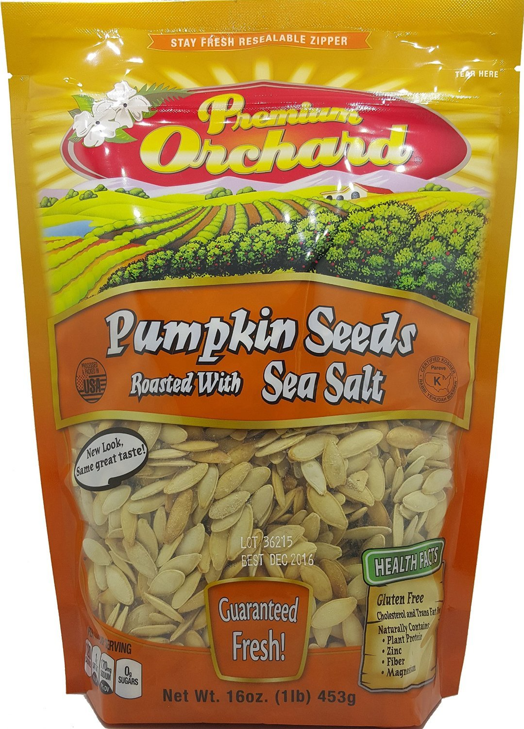 Premium Orchard Pumpkin Seeds Roasted With Sea Salt (1 LB) by Premium Orchard